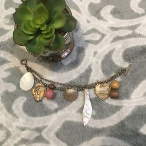 Urban outfitters Victorian pearl charm bracelet